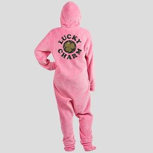 Lucky Charm [shamrock] Footed Pajamas